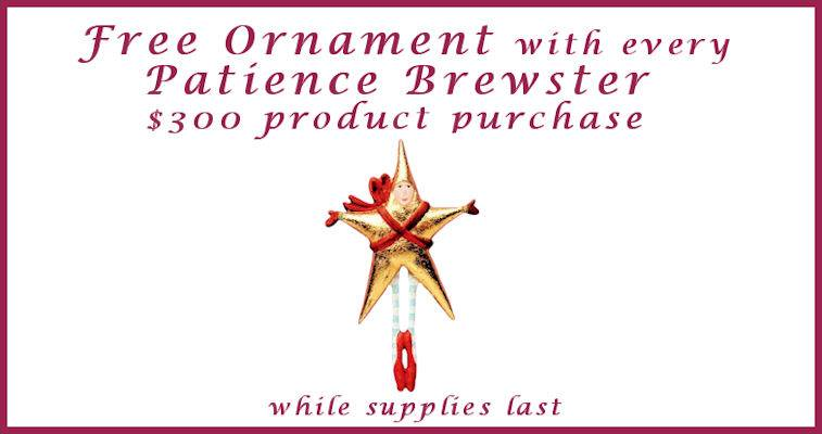 Free Gift Patience Brewster Offer
