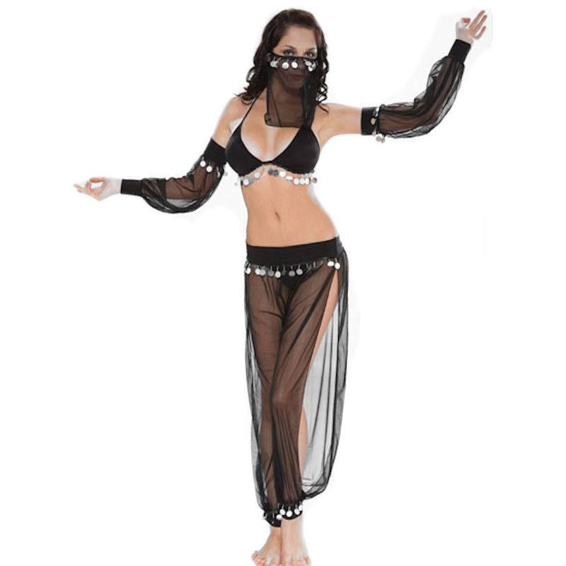 Details about  /Arabian Belly Dancer Harem Genie Halloween Cosplay Fancy dress costume AUSTRALIA