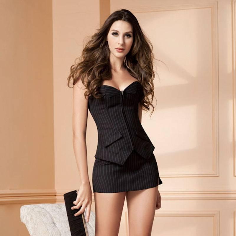 Romantic sexy formal wear lace dress
