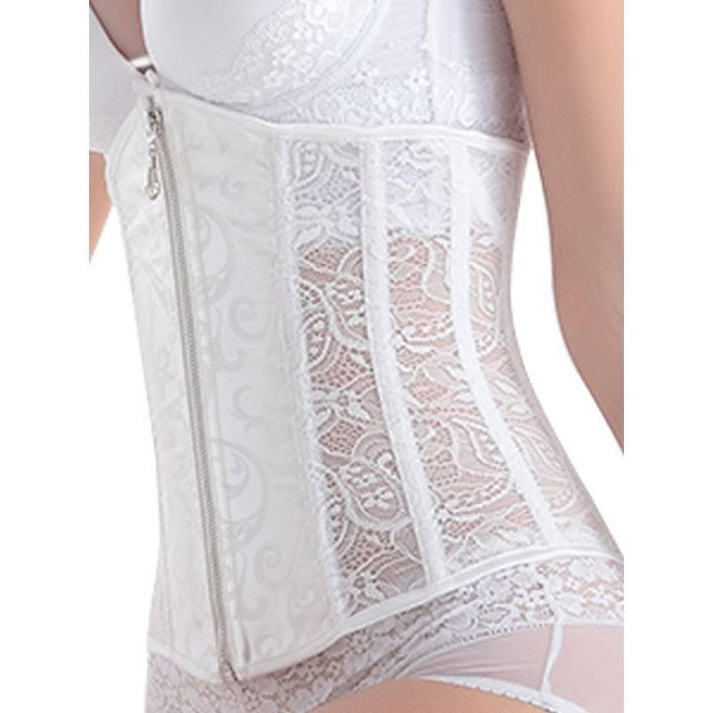 Steel boned bridal underbust corset top waist trainer for Steel boned corset wedding dress