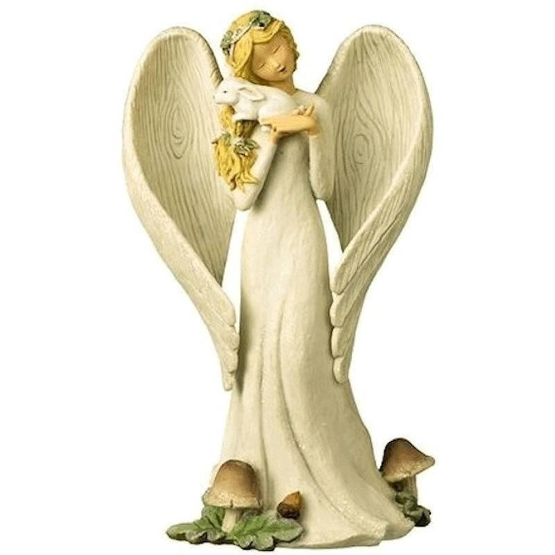 Christmas Angel Figurine & Bunny