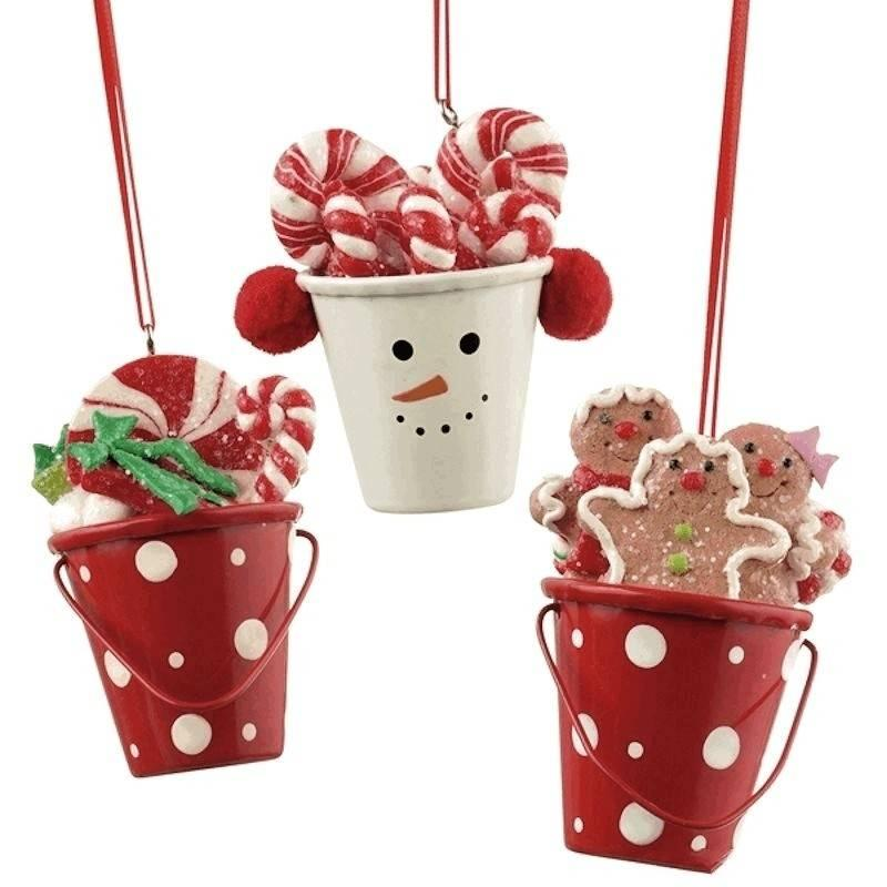 Christmas ornament miniature bucket for Christmas tin pails