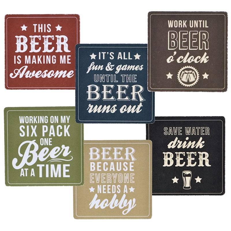 Stupid Picture Quotes: Coaster Set With Funny Sayings Set Of 14
