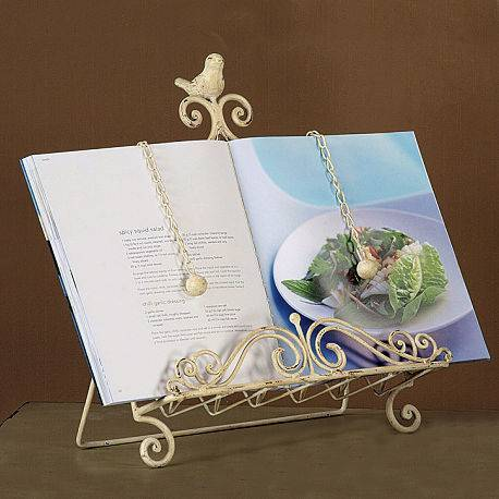 Bird Metal Cook Book Stand Vintage Style