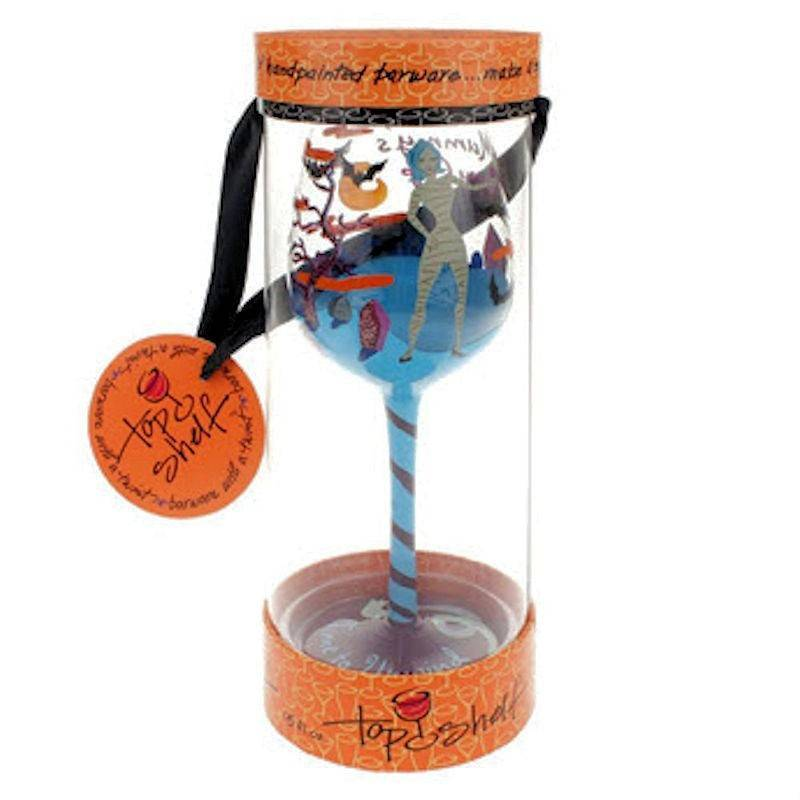 mummys sippy cup halloween wine glass by top shelf