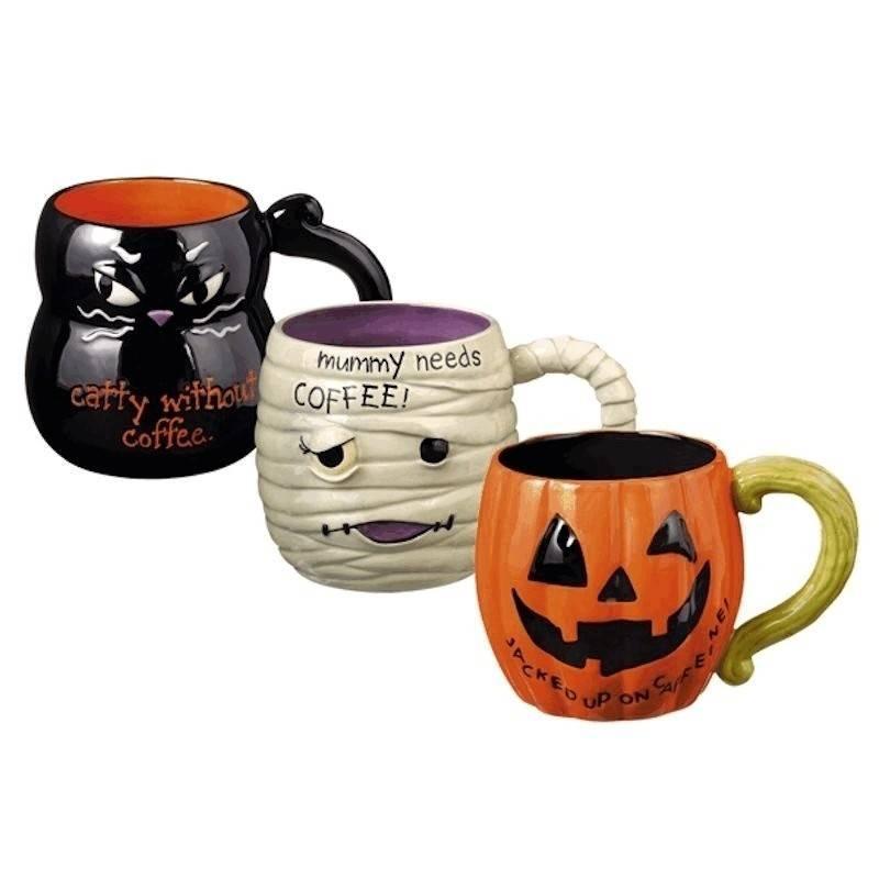 Halloween coffee mugs for Grasslands road mugs