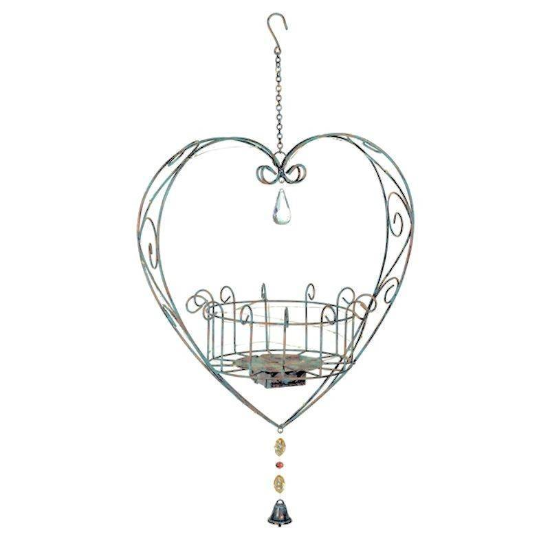 Light Up Wire Heart Plant Pot Holder Garden Ornament - Click Image to Close