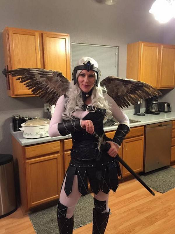 Mockingjay Feather Wings as a Halloween Costume