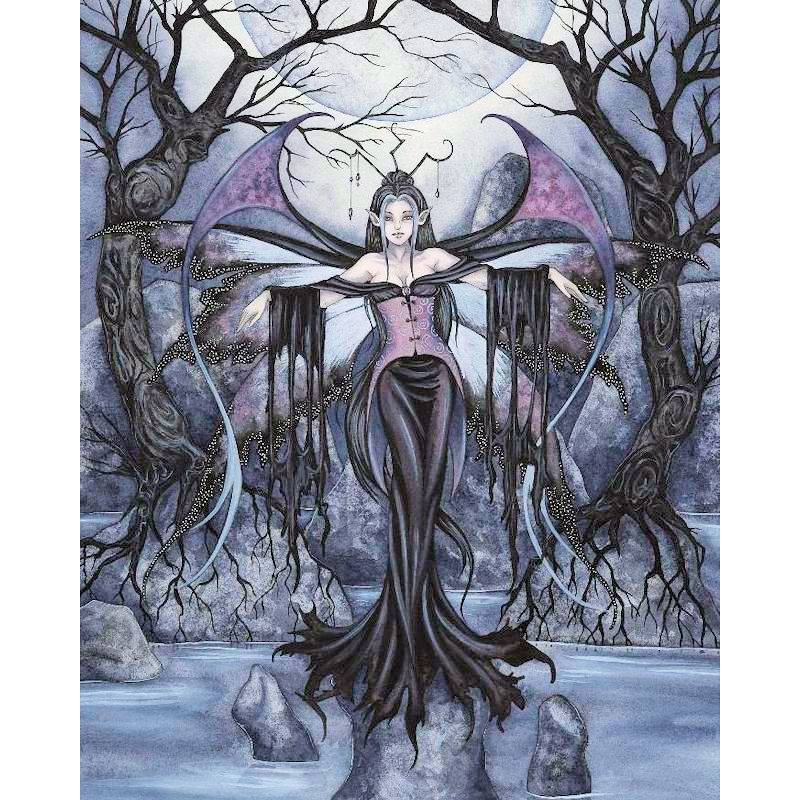 Night Queen Fairy Fantasy Art By Amy Brown