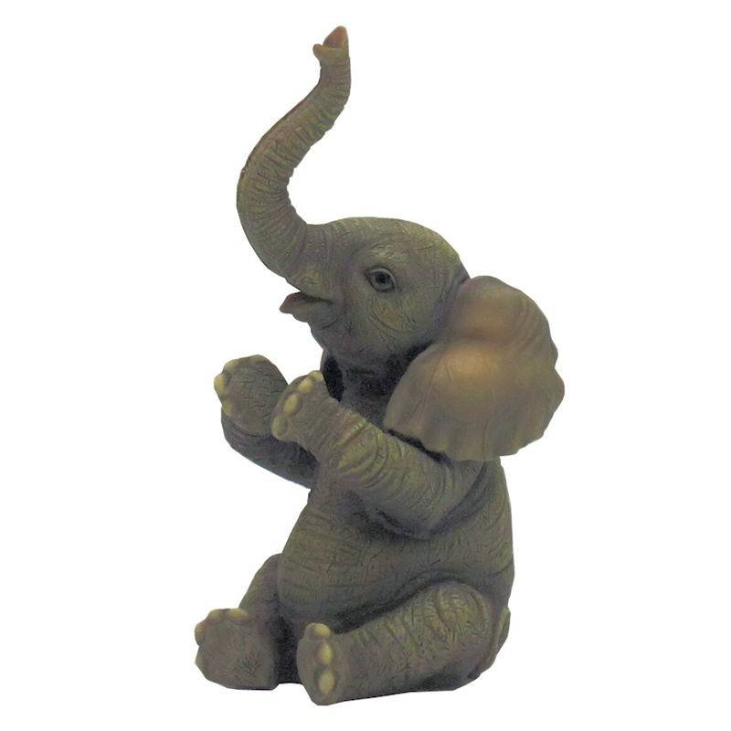 Baby Clapping Elephant Figurine