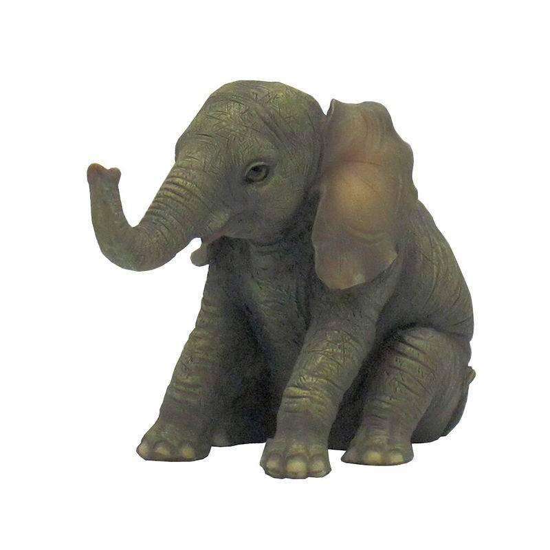elephant figurine baby wants a hug. Black Bedroom Furniture Sets. Home Design Ideas
