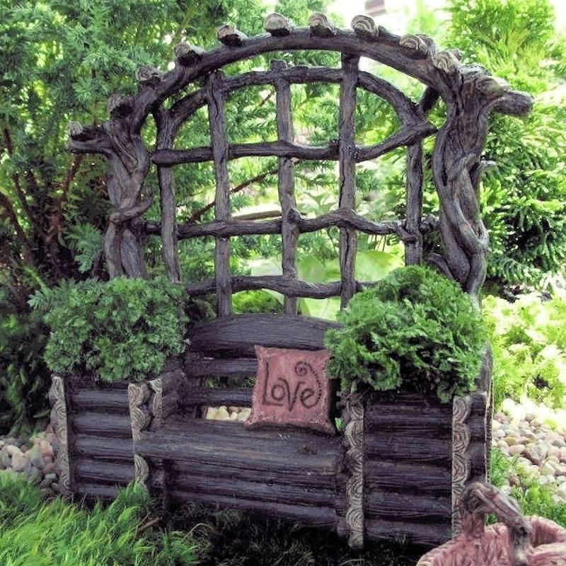 Brilliant Bench Figurine Twig Arbor Fairy Garden Furniture Ibusinesslaw Wood Chair Design Ideas Ibusinesslaworg