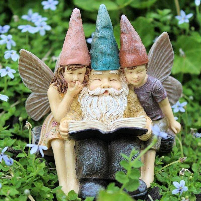 Story Time Gnome U0026 Fairies Fairy Garden Figurine