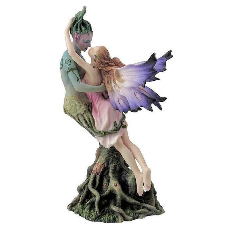 Romantic Fairy Figurine Kissing Tree Beard