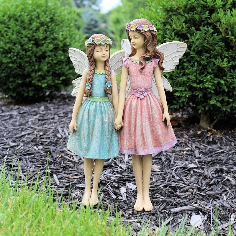 Fairy garden clara and sara fairy figurine for Fairy garden figurines