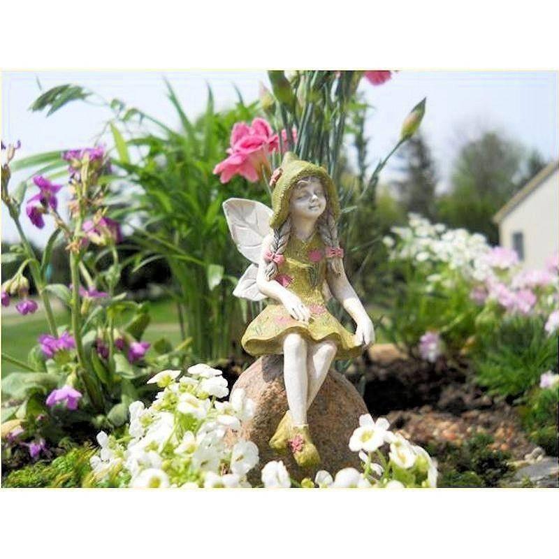 Fairy garden michelle miniature fairy figurine for Fairy garden figurines