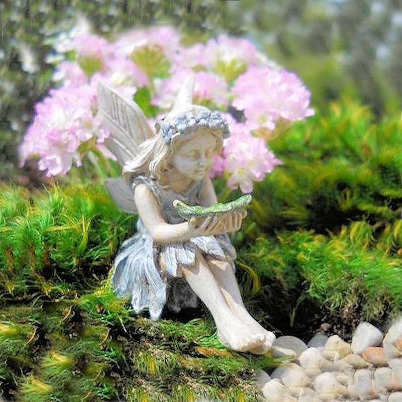 Fairy garden tammy miniature fairy figurine for Fairy garden figurines