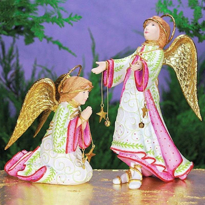 nativity christmas angel figurine by patience brewster