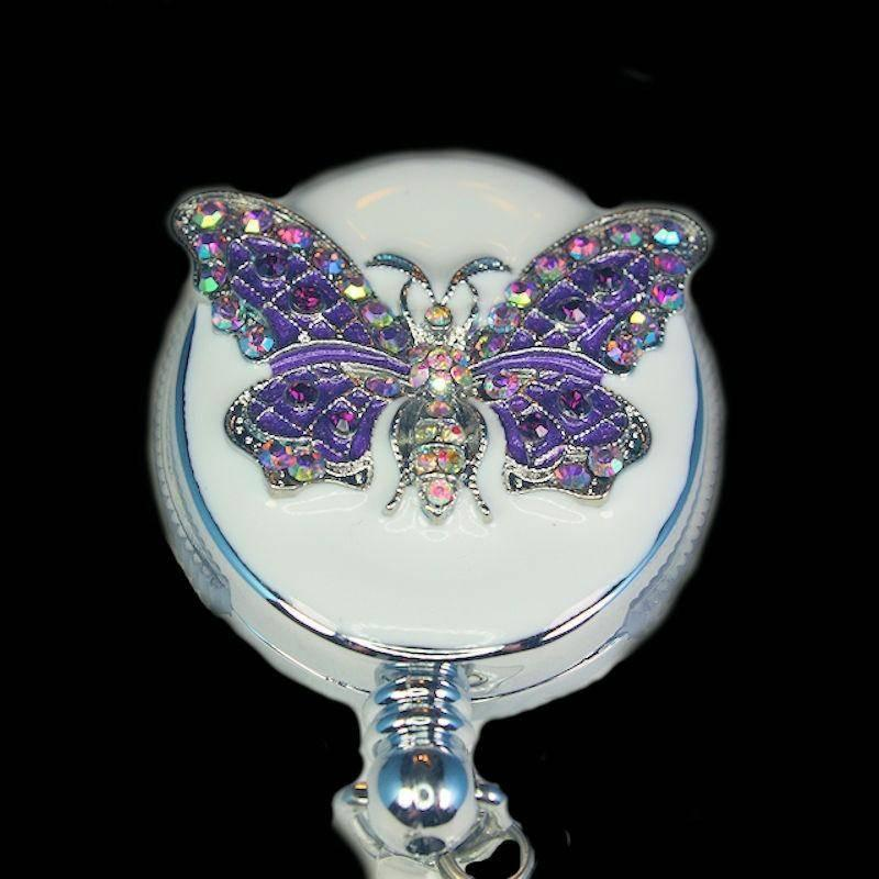Badge Holder Butterfly Beauty with Retractable Reel - Click Image to Close
